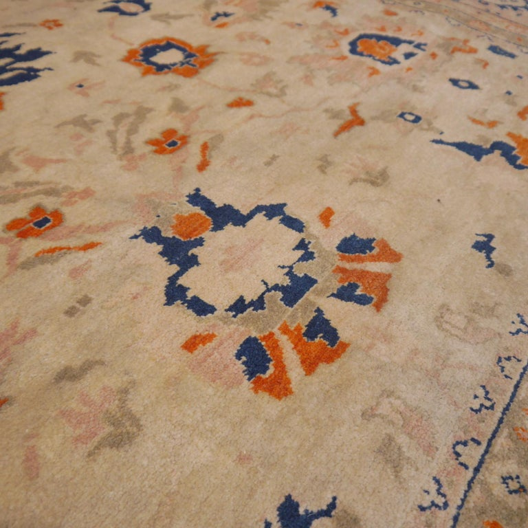 8 x 10 ft Sultanabad Mahal Design Rug Hand Knotted Wool Pile For Sale 4