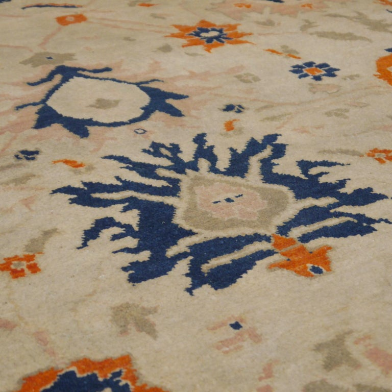 8 x 10 ft Sultanabad Mahal Design Rug Hand Knotted Wool Pile For Sale 5
