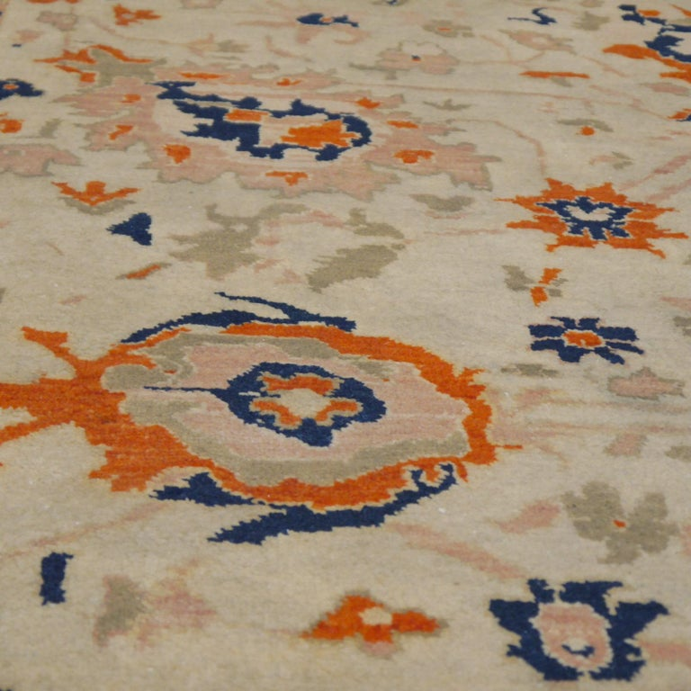 8 x 10 ft Sultanabad Mahal Design Rug Hand Knotted Wool Pile For Sale 6