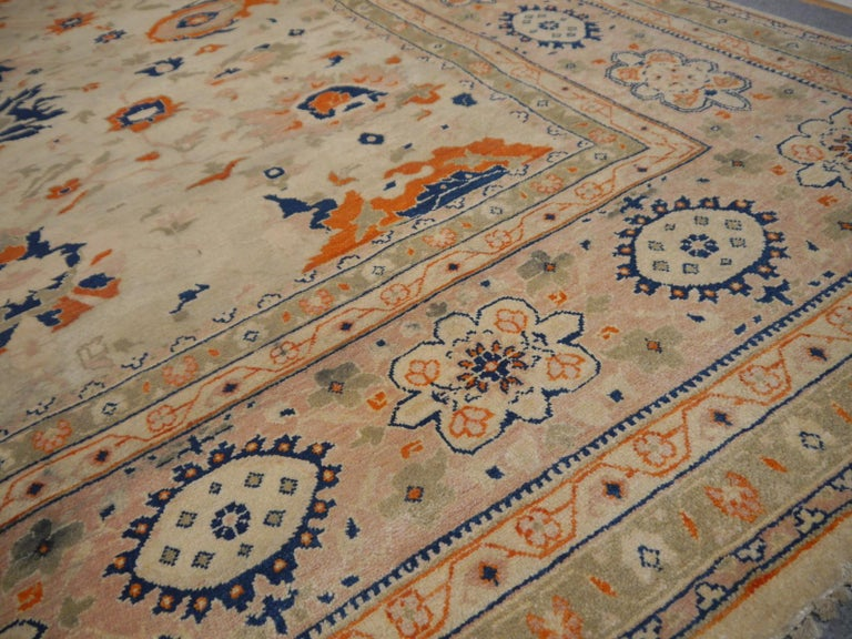 Contemporary 8 x 10 ft Sultanabad Mahal Design Rug Hand Knotted Wool Pile For Sale