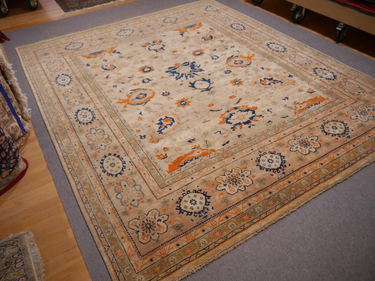 8 x 10 ft Sultanabad Mahal Design Rug Hand Knotted Wool Pile For Sale 2