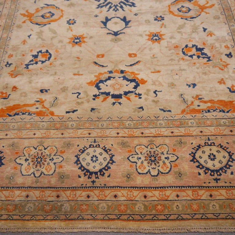 8 x 10 ft Sultanabad Mahal Design Rug Hand Knotted Wool Pile For Sale 3