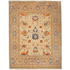 8 x 10 ft Sultanabad Mahal Design Rug Hand Knotted Wool Pile
