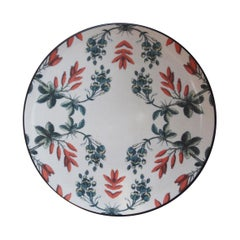 Sultan's Journey Flowers Porcelain Plate by Patch NYC for Les-Ottomans