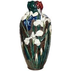 Sumida Gawa Pottery Vase, Japan, circa 1890