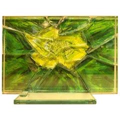 """Summer Dawn"" a Glass Sculpture by Canadian Artist Mary Filer"