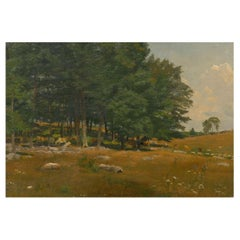 """""""Summer Landscape"""" American Painting Attributed to Robert Bruce Crane, Signed"""