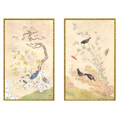 Summer Palace Hand Painted Chinoiserie Diptych