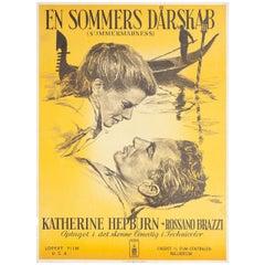 """""""Summertime"""" 1956 Danish A1 Film Poster"""