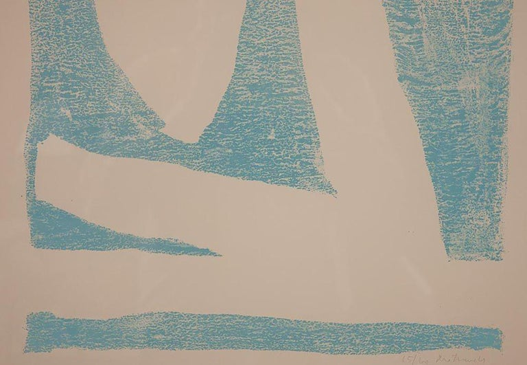 Modern Summertime In Italy 'With Blue' Lithograph by Robert Motherwell For Sale