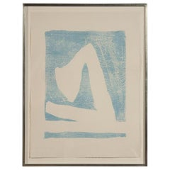 Summertime In Italy 'With Blue' Lithograph by Robert Motherwell
