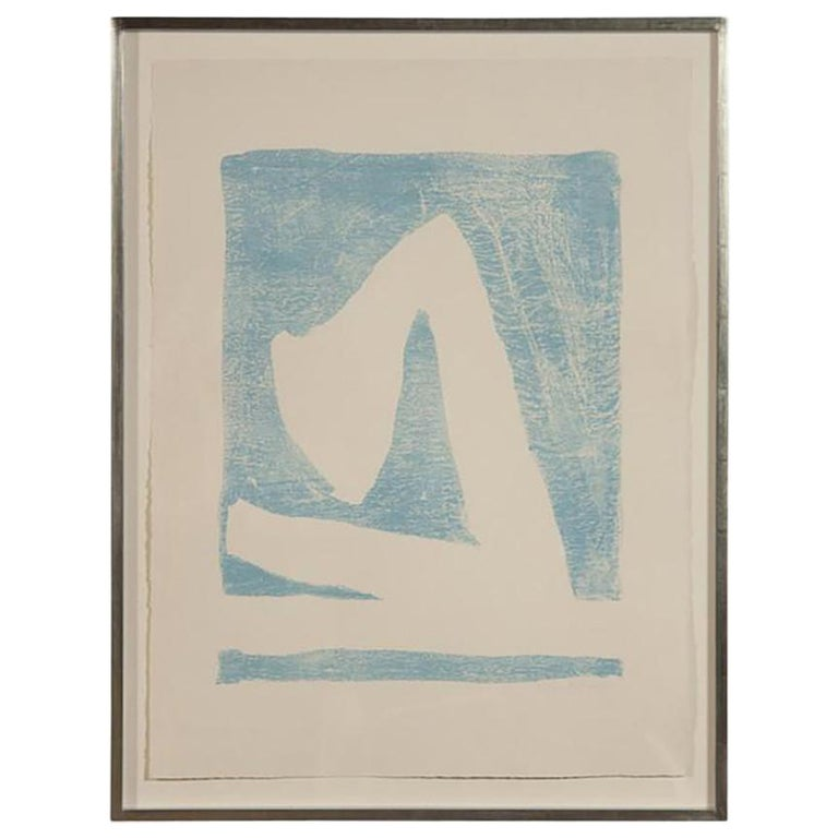Summertime In Italy 'With Blue' Lithograph by Robert Motherwell For Sale
