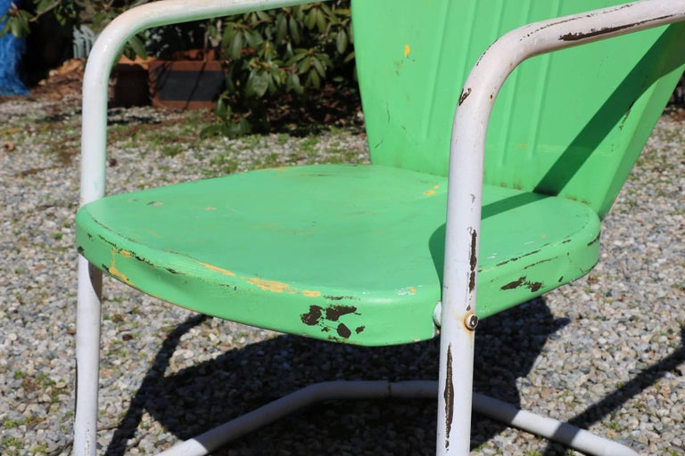 Incredible Summertime Tangerine And Lime Green Retro Rockers Vintage Pabps2019 Chair Design Images Pabps2019Com