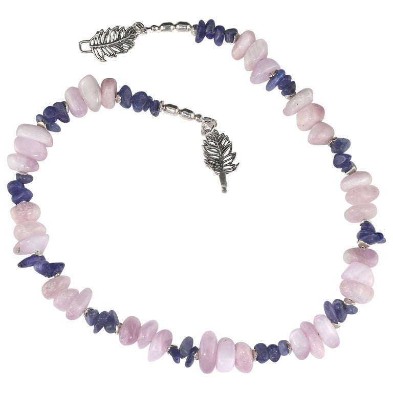 Gemjunky Summertime Unique and Fascinating Kunzite and Tanzanite Necklace For Sale
