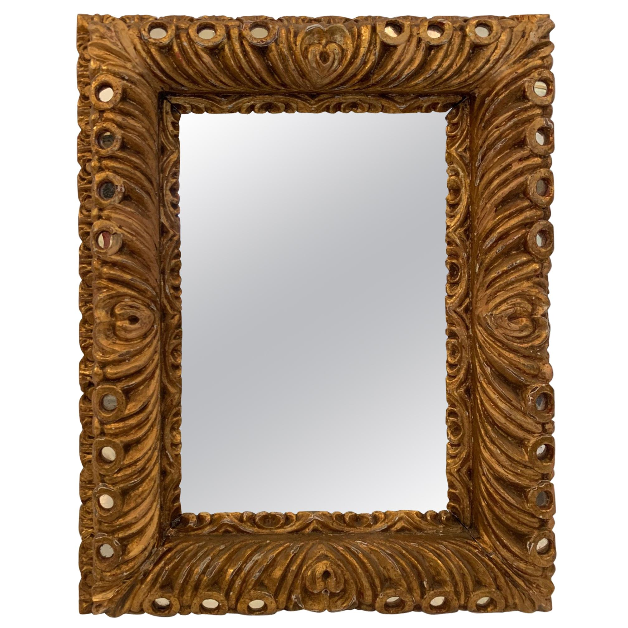 Sumptuous Italian Rococo Carved Wood Mirror