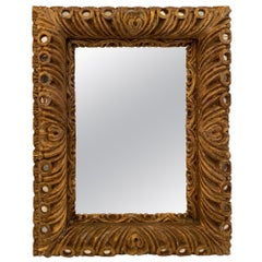 Sumptuous Italian Rococo Carved Wood Mirror