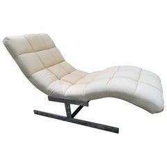 """Sumptuous Milo Baughman """"Wave"""" Chaise Lounge Chair Midcentury"""