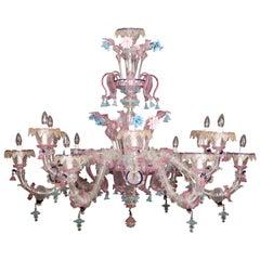 Sumptuous Murano Glass Chandelier, 1990s