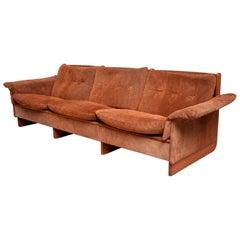 Sumptuous Suede Sofa Danish Modern Ebbe Gehl & Soren Nissen, Denmark, 1960s