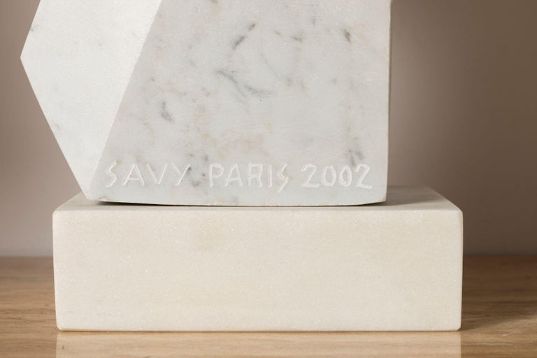 Sumptuous White Carrara Marble Sculpture by SAVY