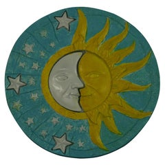 Sun and Moon Hand Painted Wall Panel