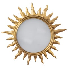 Sun Burst Gilded Bronze Ceiling Fixture