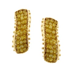Sun Day 18 Karat Yellow Gold and Yellow Sapphire Earrings