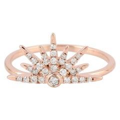 Sun Diamond 18 Karat Gold Ring