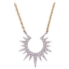 Sun Diamond Necklace, Bright Diamonds 47 Diamond Necklace, Celestial Necklace