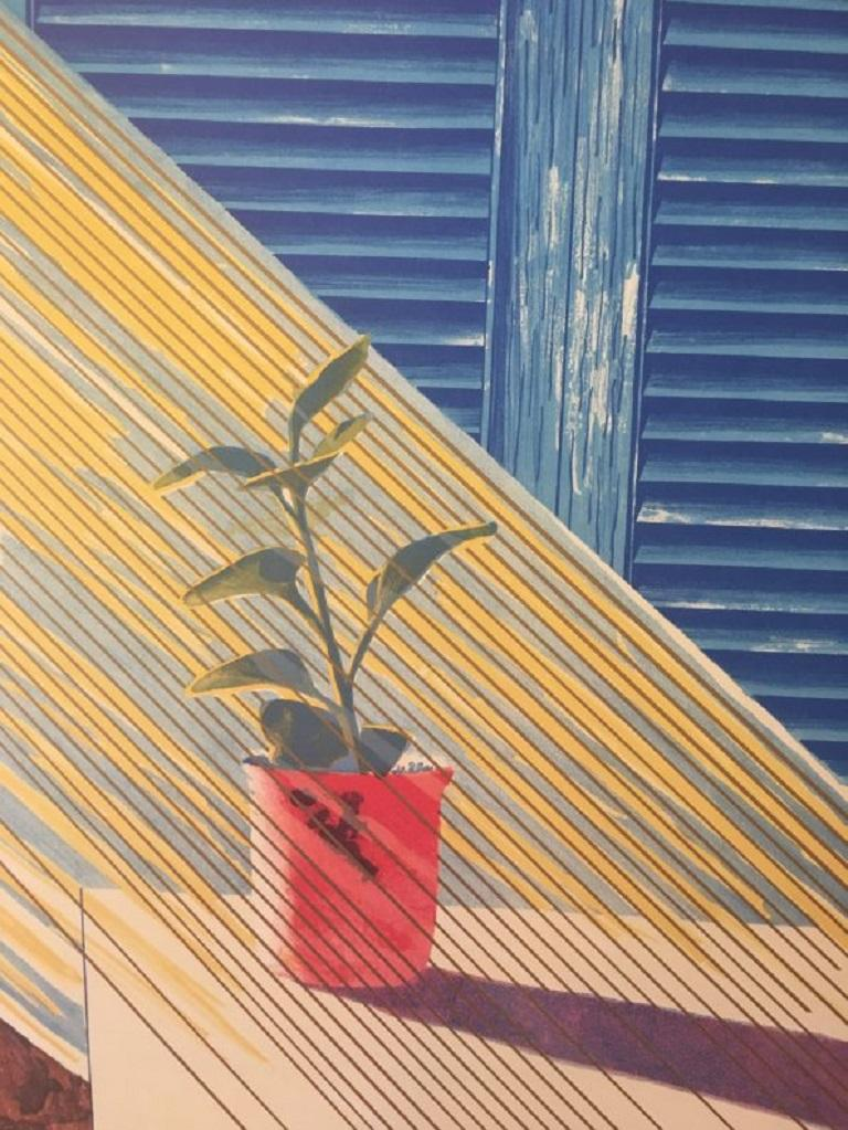 David Hockney exhibition poster designed and created in 1981