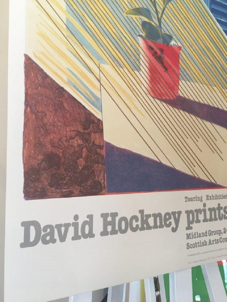 Sun from the Weather Series David Hockney 1981 Exhibition Poster In Excellent Condition For Sale In Melbourne, Victoria