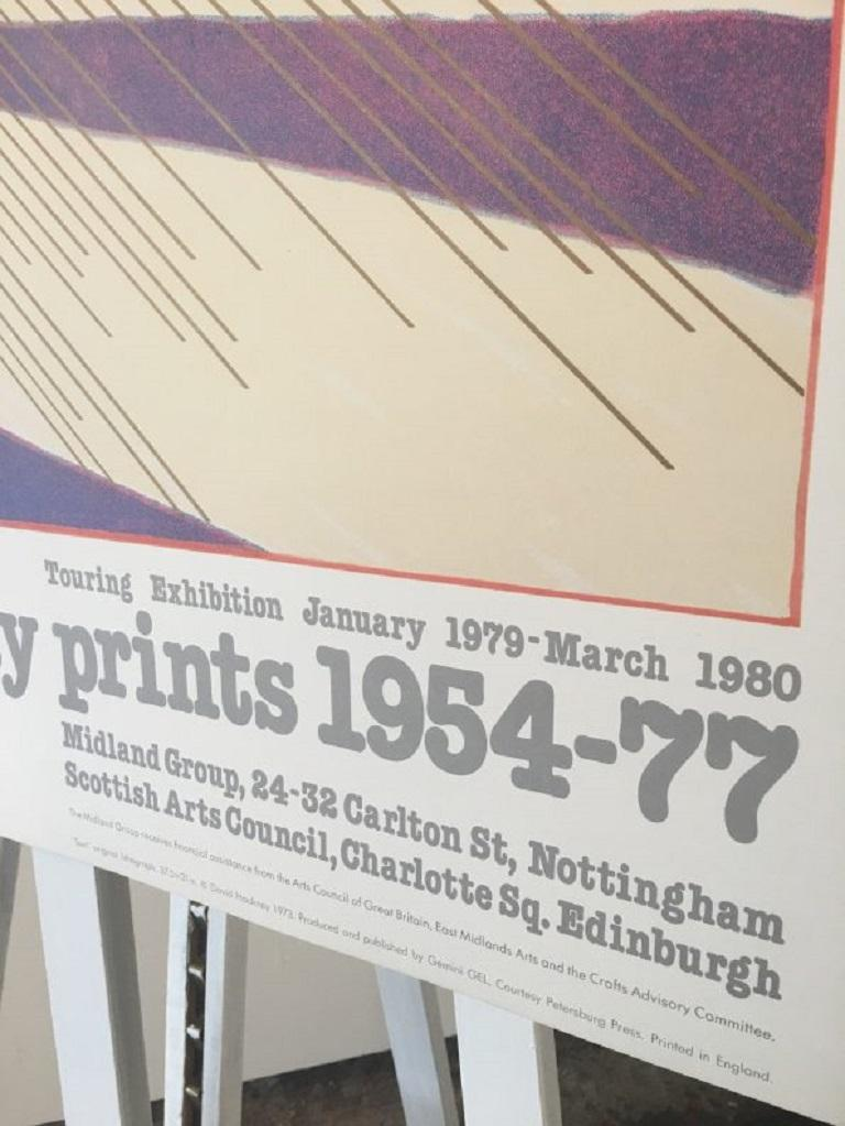 Late 20th Century Sun from the Weather Series David Hockney 1981 Exhibition Poster For Sale