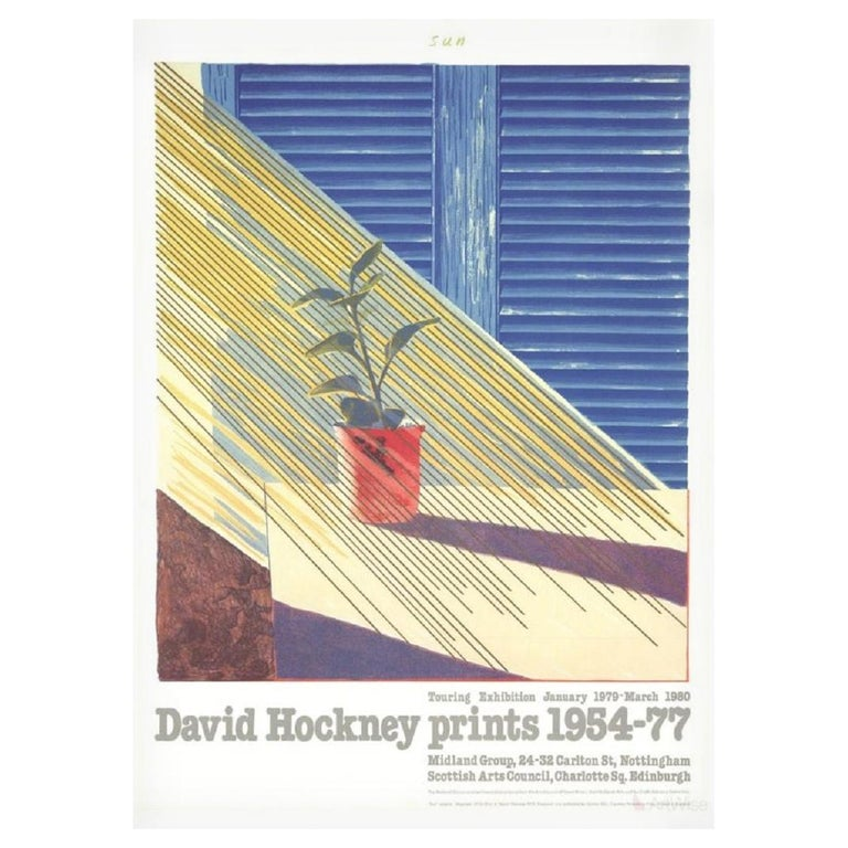 Sun from the Weather Series David Hockney 1981 Exhibition Poster For Sale