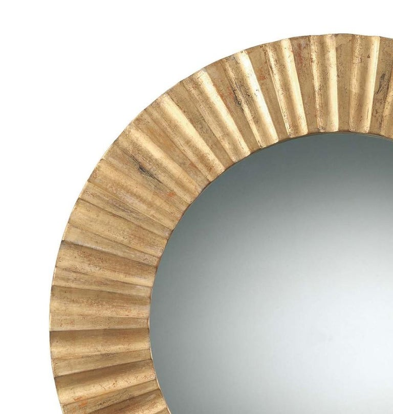 Sun gold mirror by Spini Firenze.