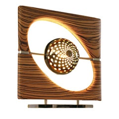 Sun Ra Zebrano Table Lamp by Roberto Lazzeroni