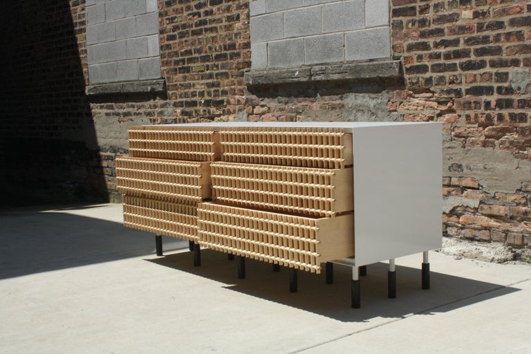 American Sunbreaker Limited Edition Credenza or Sideboard by Laylo Studio For Sale
