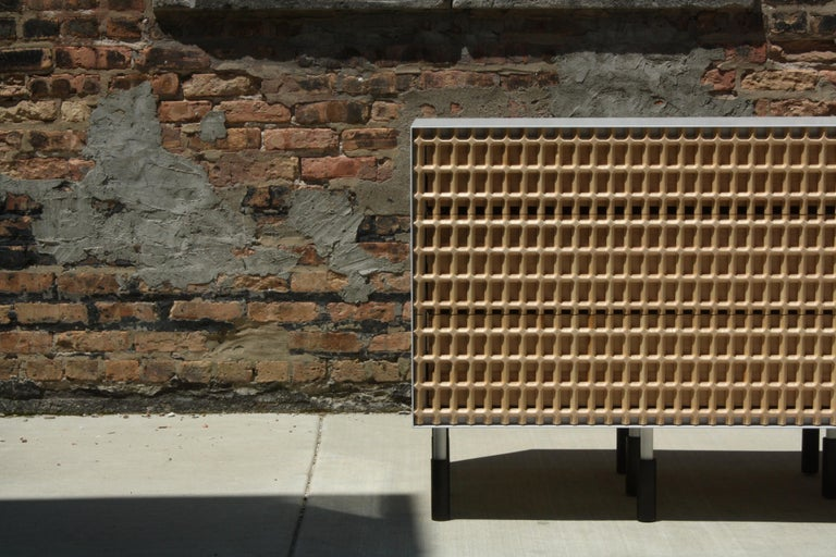 Enameled Sunbreaker Limited Edition Credenza or Sideboard by Laylo Studio For Sale