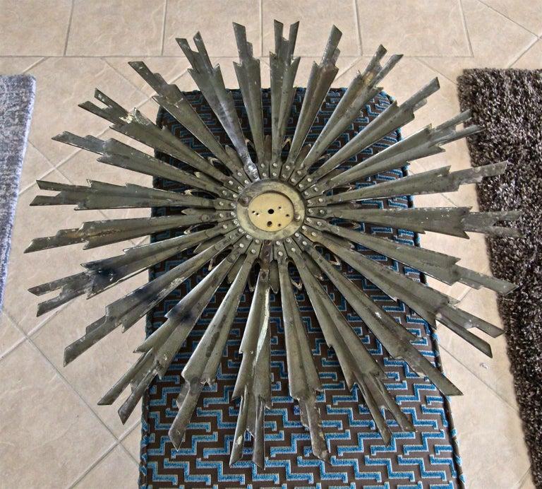 Sunburst Art Deco Bronze Metal Convex Wall Art Mirror 10