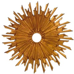 Sunburst Ceiling Mount Attributed to E.F. Caldwell