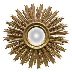 Sunburst Giltwood Convex Mirror