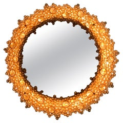 Sunburst Mirror Illuminated, with Swarovski Crystals, Austria, 1970s