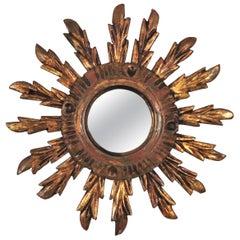 Sunburst Mirror in Small Scale, Baroque Style
