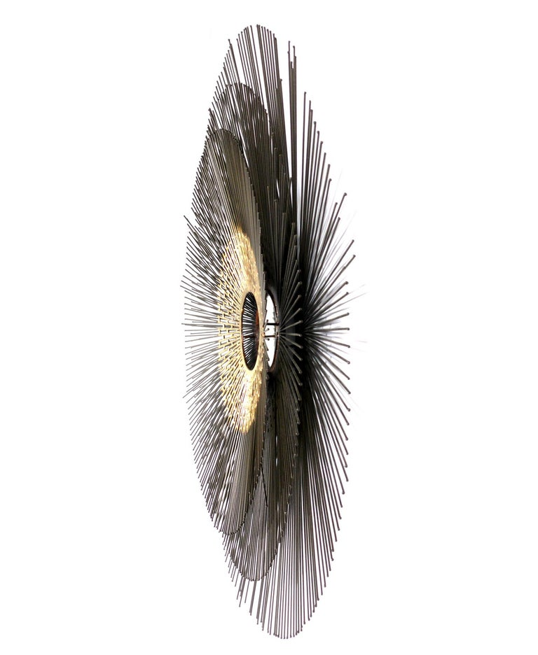 American Sunburst Mirror or Wall Sculpture For Sale