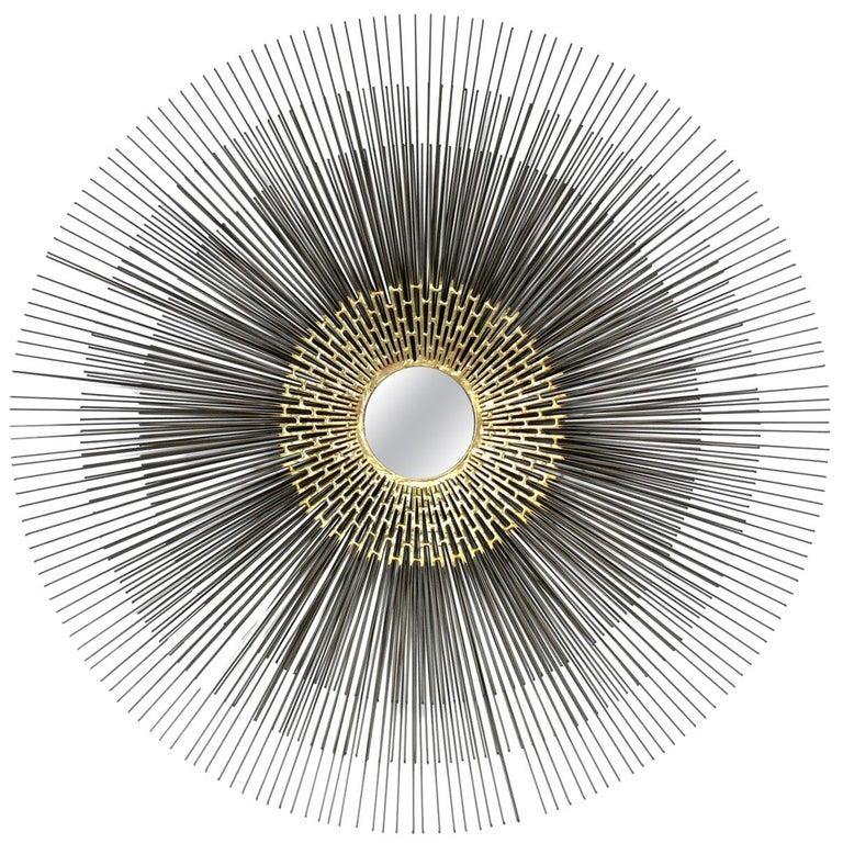Sunburst Mirror or Wall Sculpture For Sale