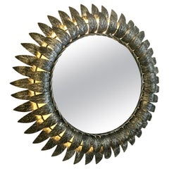 Sunburst Mirror with Back Light, circa 1960