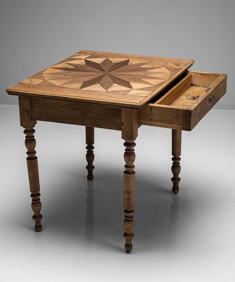 French Sunburst Side Table, France, circa 1880 For Sale