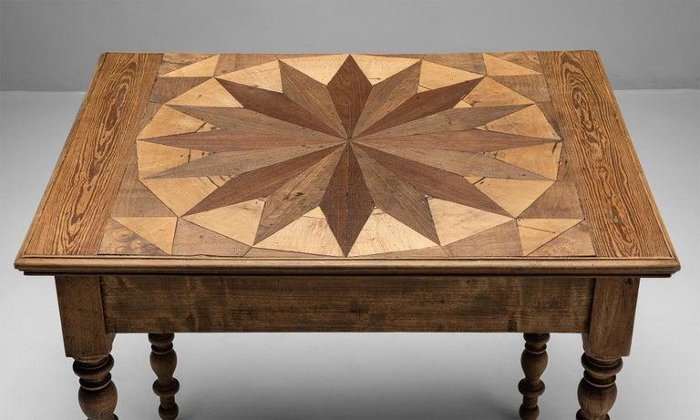 Sunburst Side Table, France, circa 1880 For Sale 1