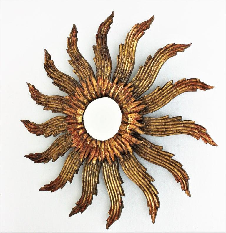 Sunburst Starburst Giltwood Mirror 2