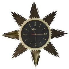 Sunburst Wall Clock from Metamec, 1960s