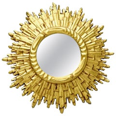 Sunburst Wall Mirror, France, 1960s
